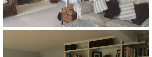 Internal living room renovation, Chailey